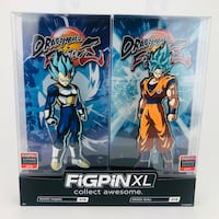 2019 SDCC Comic Con Figpin Goku & Vegeta SSGSS XL Dragon Ball Z 2-Pack Exclusive Virginia Beach, 23451