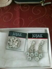 silver and diamond studded earrings Brooksville, 34601