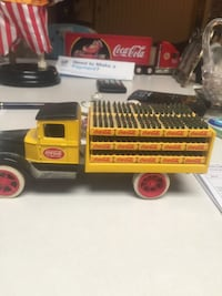 Yellow coca-cola truck