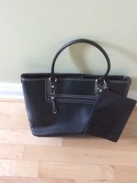 black leather tote bag with wallet Mississauga, L5A