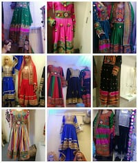 women's assorted-color Anarkali dress lot collage Calgary, T3N 1G7
