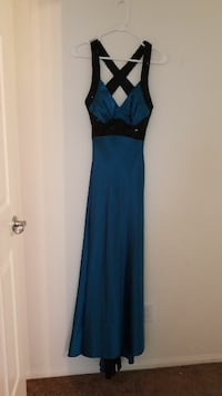 XS -S Teal Evening Gown