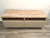 IKEA BESTÅ Walnut TV Stand with Push-In and Out Drawers and Wall Mount