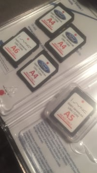 Ford / Lincoln sync navigation A4 , A5, A6 map SD cards