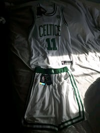 Celtic jersey and shorts