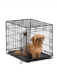 24 inch dog pet kennel folding cage metal wire steel. Like new. Crate  Arlington, 22201