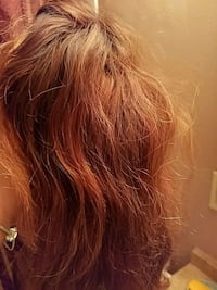 Brown and reddish lace front