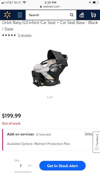 Orbit baby G3 infant car seat and base