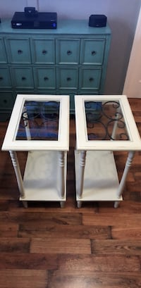 2 Coffee Tables, off white color & glass Garwood, 07027
