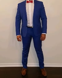 Slim Fit Suit - Royal Blue (42s/35 waist) - $20.00