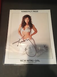 Official WCW NITRO GiRL Promo Photo Signed by Kimberly Paige Manalapan, 07726