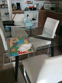 rectangular glass top table with chairs set Calgary, T2E 4H7