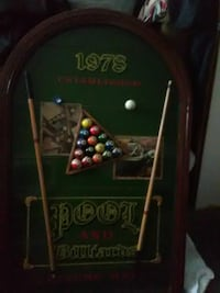 1978 Pool and Billiards wall decor Cleveland, 44111