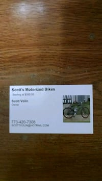 Motorized bike sales service and parts Chicago