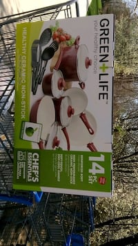 Green+Life ceramic non-stick cooking pots and frying pans box Rockville