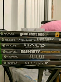 6 Xbox one games Rockville, 20850