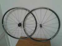 two gray bicycle wheels