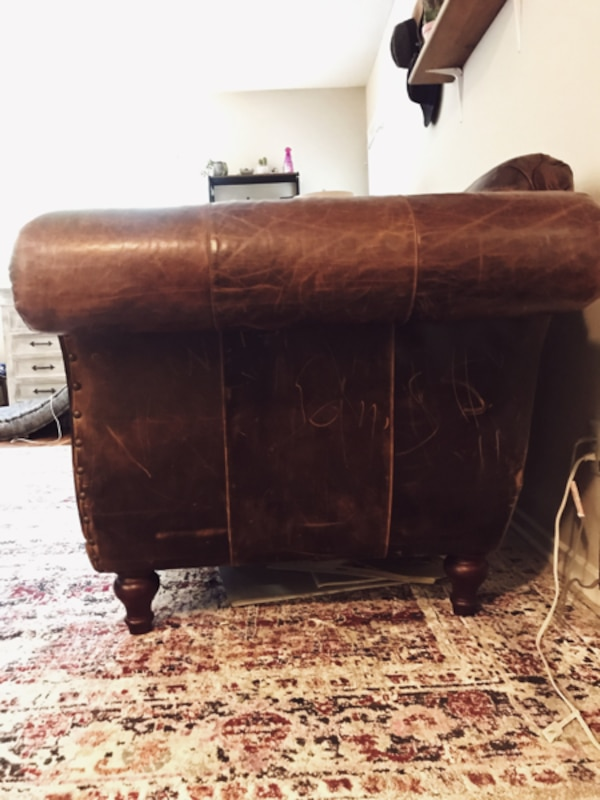 Fabulous Anthropologie Cotswold Sofa Chocolate Leather Alphanode Cool Chair Designs And Ideas Alphanodeonline