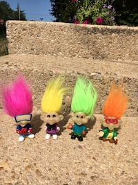 4 Troll dolls from 1993 Annandale, 22003