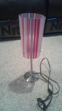 silver white and red table lamp Hanover, N4N 3B9