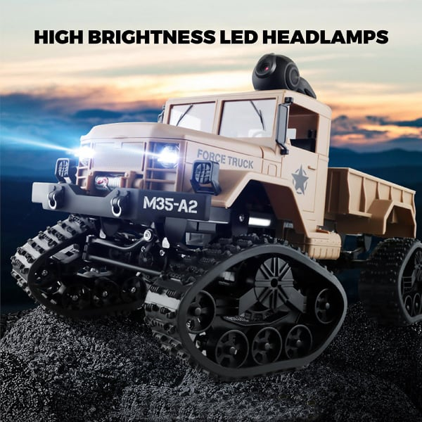 New RC Hobby Toys Military Truck Off-Road Sport Cars 4WD 2.4Ghz Rock Crawler Vehicle with Wi-Fi HD Camera Gifts for Kids and Adults b8c838b9-35a5-469d-bffa-c39f09ddb7cc