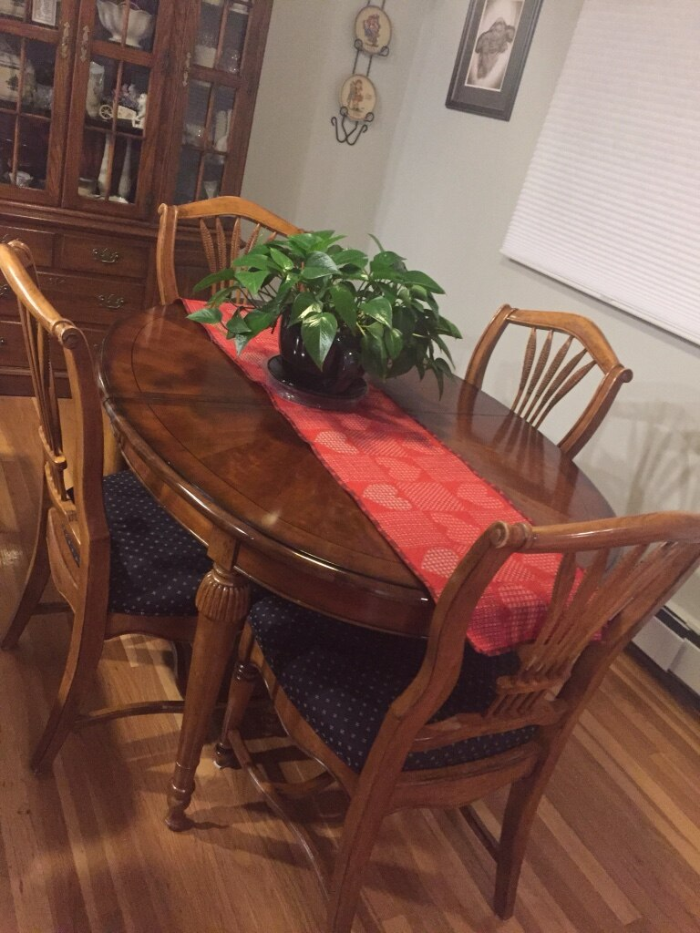 used drexel heritage brown wooden dining table set for sale in rh us letgo com