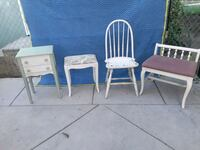 two white wooden rocking chairs Long Beach, 90805