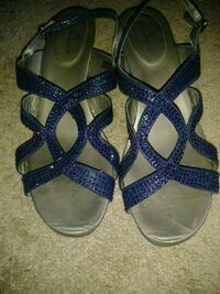 Blue sparkly sandals Triangle, 22172