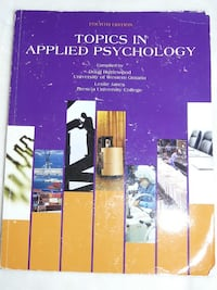 Textbook: Topics in Applied Psychology fourth edition - $50. Mississauga Mississauga