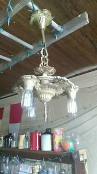 white and gray uplight chandelier McIntosh, 32664