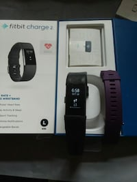 black Fitbit Charge HR with box