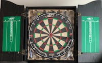 Never Used - Prof. Dart Board and Cabinet Toronto, M6K 0A7