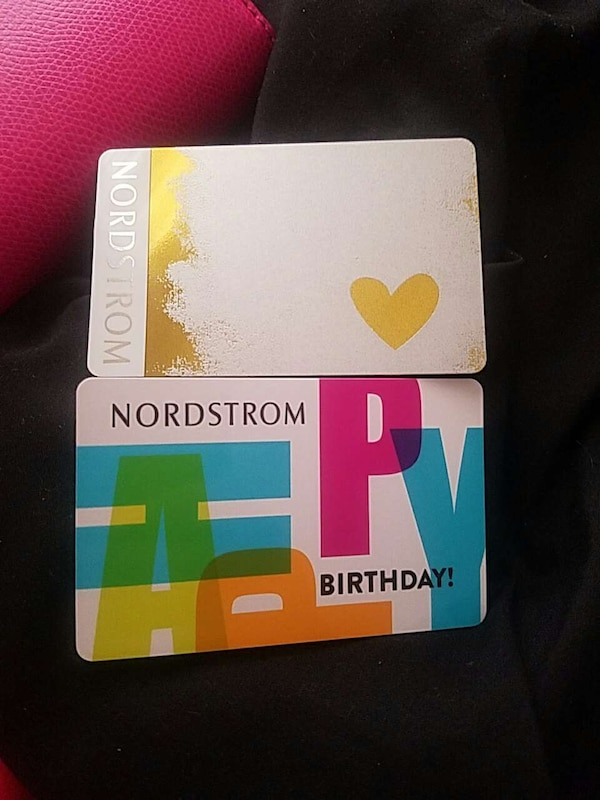 2 Nordstrom Gift Cards