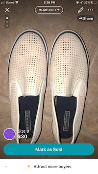 pair of white slip-on shoes McAllen, 78501