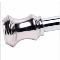 New Zenith Brushed Nickel Tension Shower Curtain Rod, Retails $32 Green, 44685