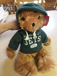 Hooded NFL Jets bear West Islip