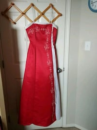 red spaghetti strap maxi dress Edmonton, T6E 1R3