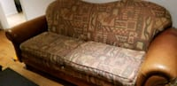 brown and white fabric sofa Mississauga, L5L 2Y8