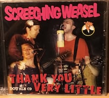 Screeching Weasel Double CD punk not LP vinyl record album. Lookout