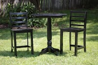 Black Pub table with 2 stools null