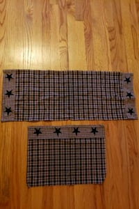 Country Navy Plaid Table Runners. Harpers Ferry, 25425