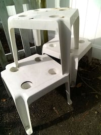 (3)White Rein SideTables Myrtle Beach, 29577