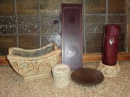 Pottery Decor Planter Pot Candle Holders Candle Tray & Candle