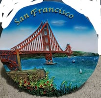 Ceramic plate of San Francisco for display