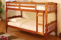 Oak bunk bed divisible to 2 beds (new)