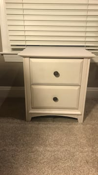White wooden 2-drawer nightstand Lutherville Timonium, 21093