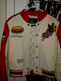 white and red button-up jacket Laurel, 20723