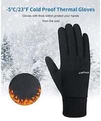 Winter Gloves for Mens Womens Running Gloves Thermal Touchscreen Windproof Warm for Cycling Riding Driving Climbing Black 大學城, 63130