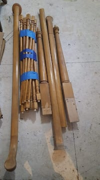 Solid Maple Railing and Newel Posts Allenstown