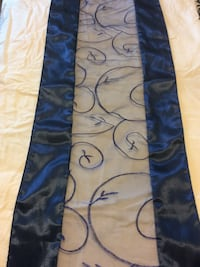 17 Navy Blue Satin Lace Table Runners for wedding. EUC Elkton, 21921